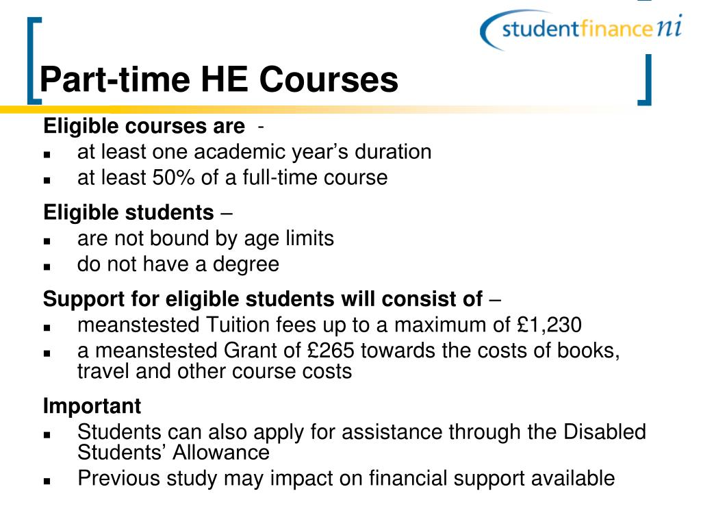 Part-time HE Courses