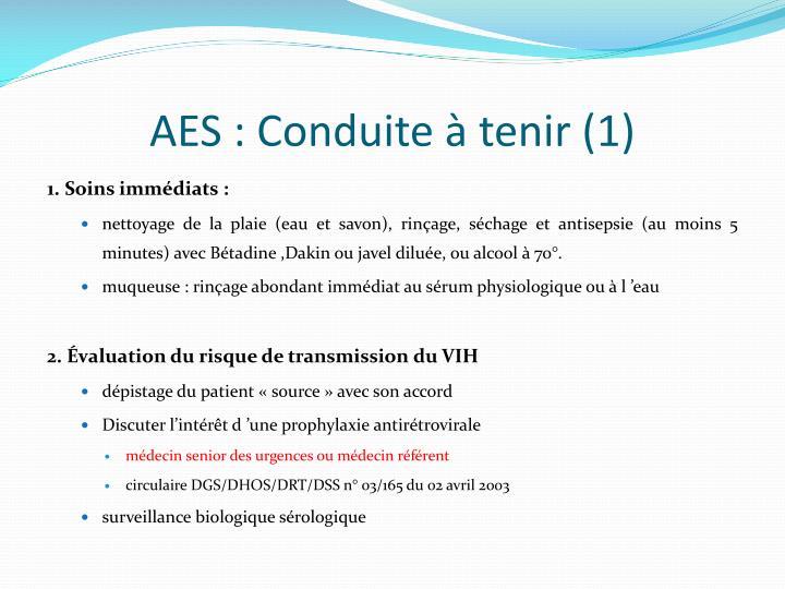 AES : Conduite à tenir (1)