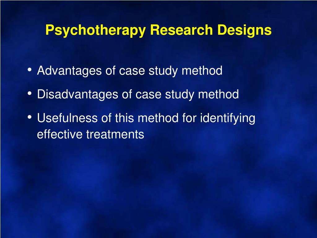 Psychotherapy Research Designs