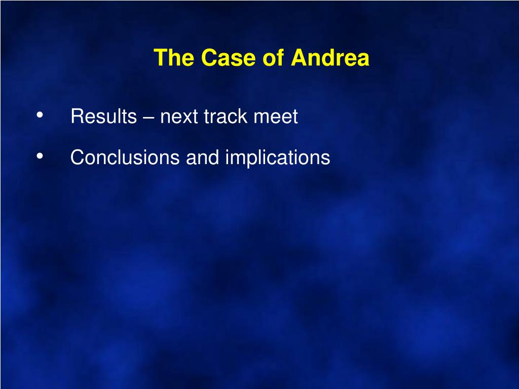 The Case of Andrea