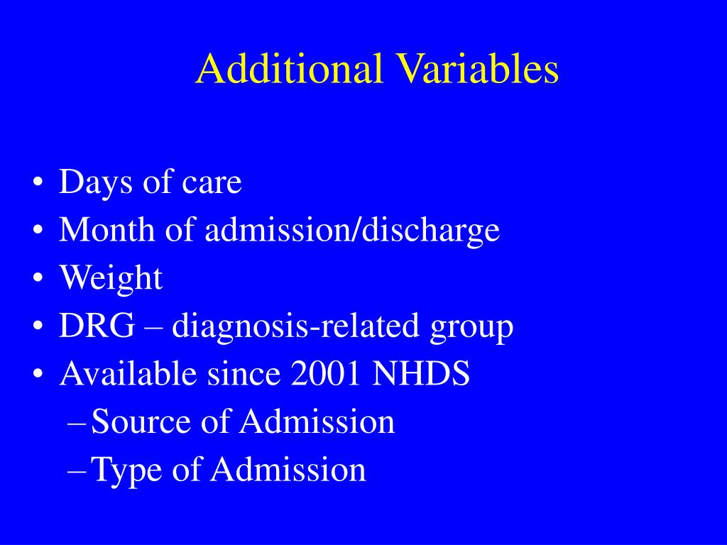 Additional Variables
