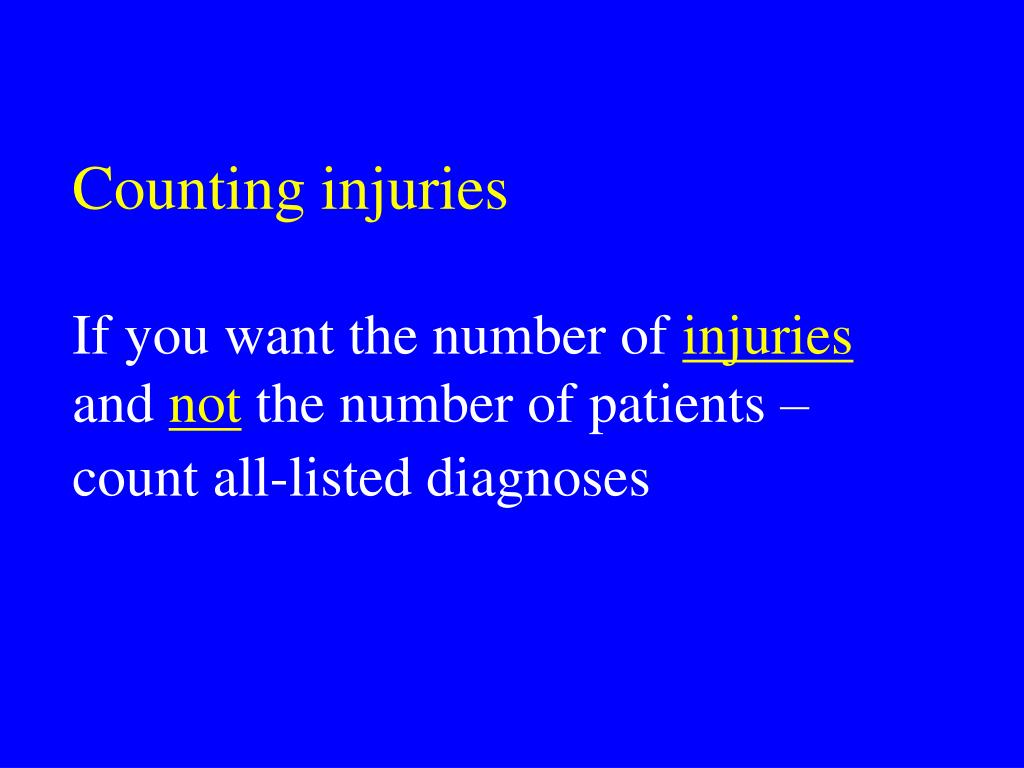 Counting injuries