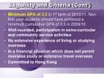 eligibility and criteria cont7