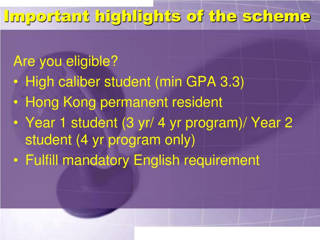Important highlights of the scheme