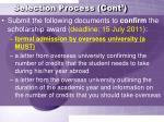 selection process cont14