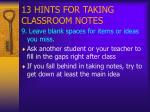 13 hints for taking classroom notes10