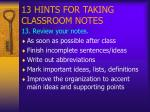 13 hints for taking classroom notes14