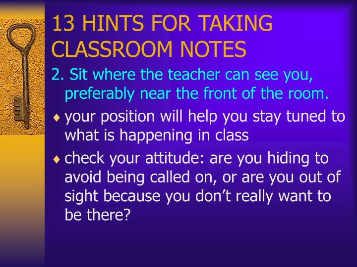 13 hints for taking classroom notes3