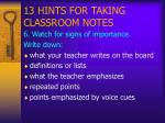 13 hints for taking classroom notes7