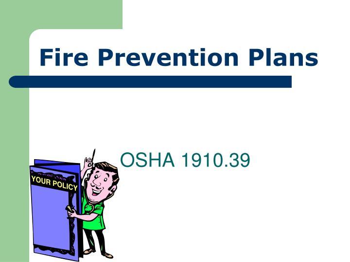 Fire Prevention Plans