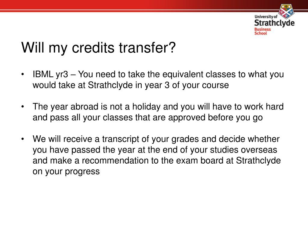 Will my credits transfer?