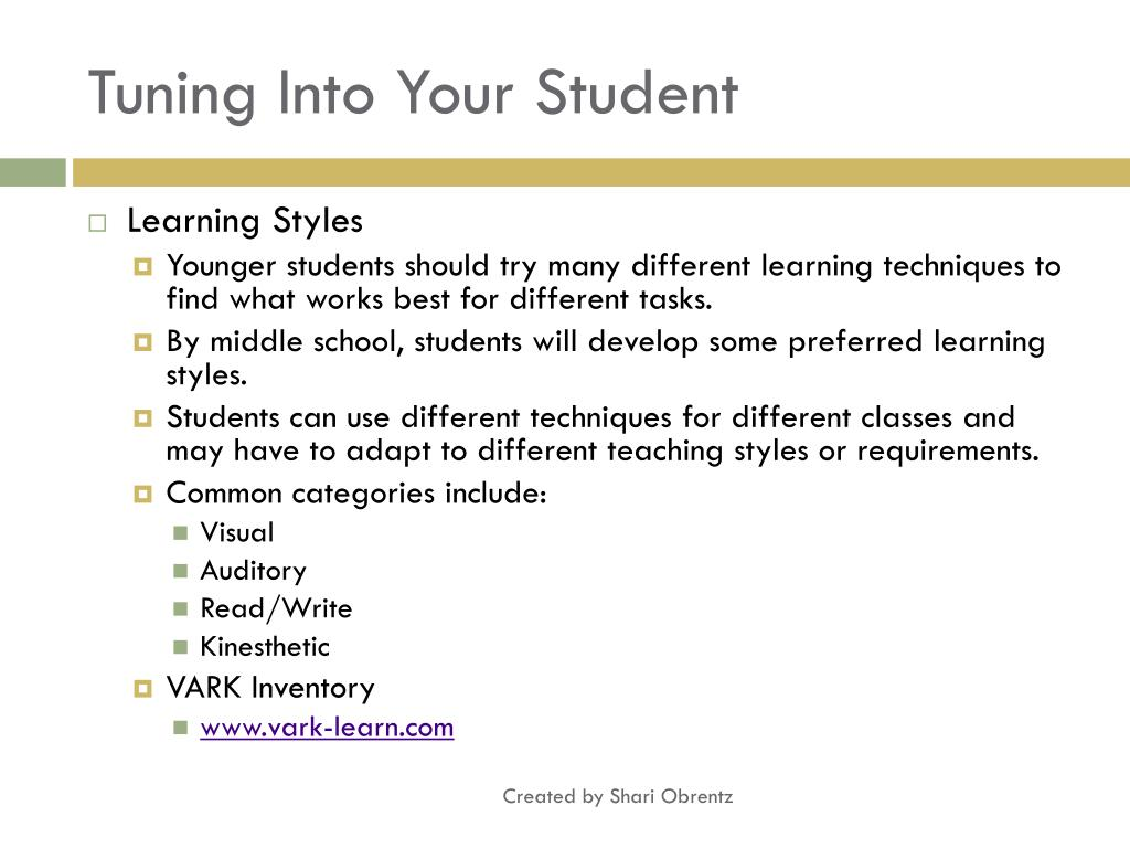 Tuning Into Your Student