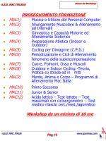 elenco dei workshop
