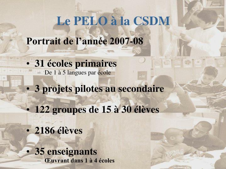 Le PELO à la CSDM