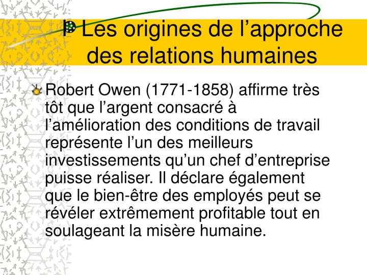 Ppt l cole des relations humaines powerpoint for Idees entreprise lucrative