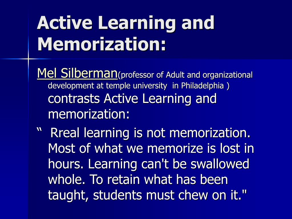 Active Learning and Memorization: