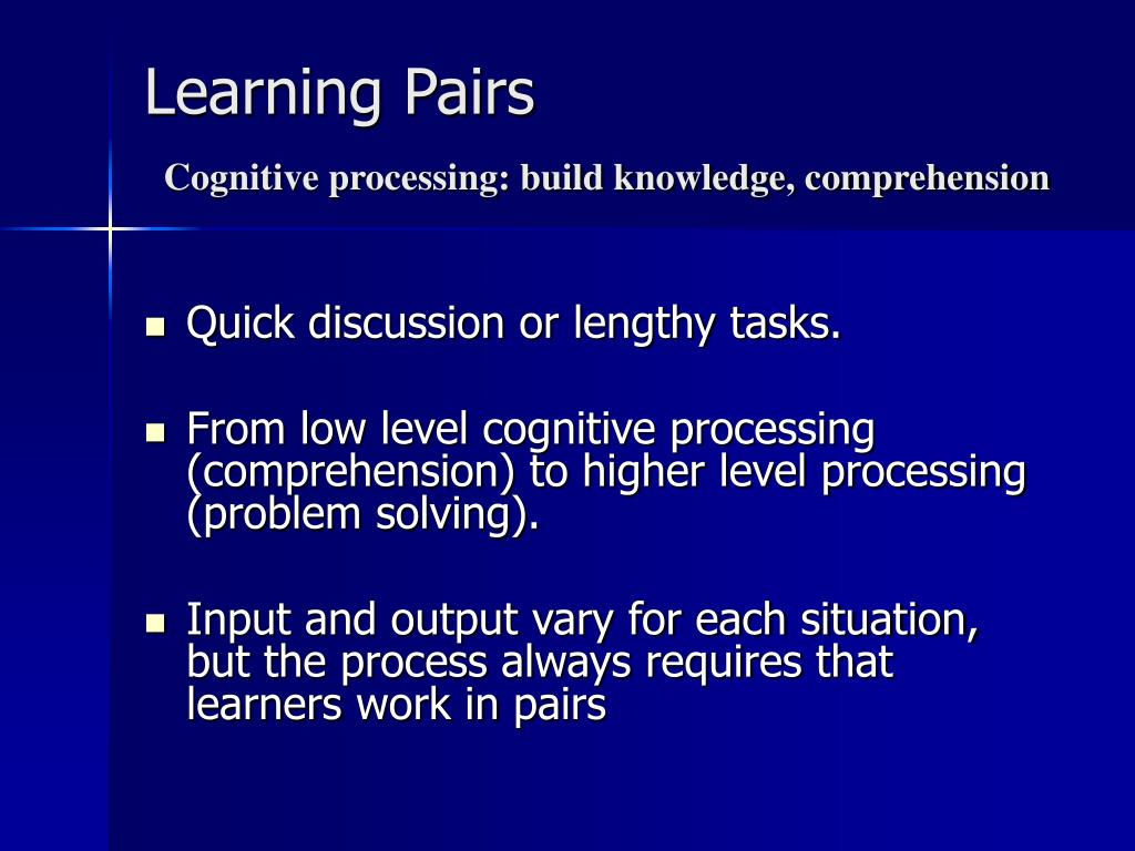 Learning Pairs