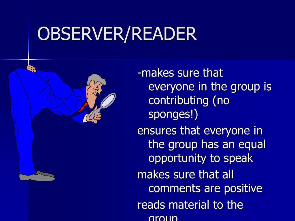OBSERVER/READER