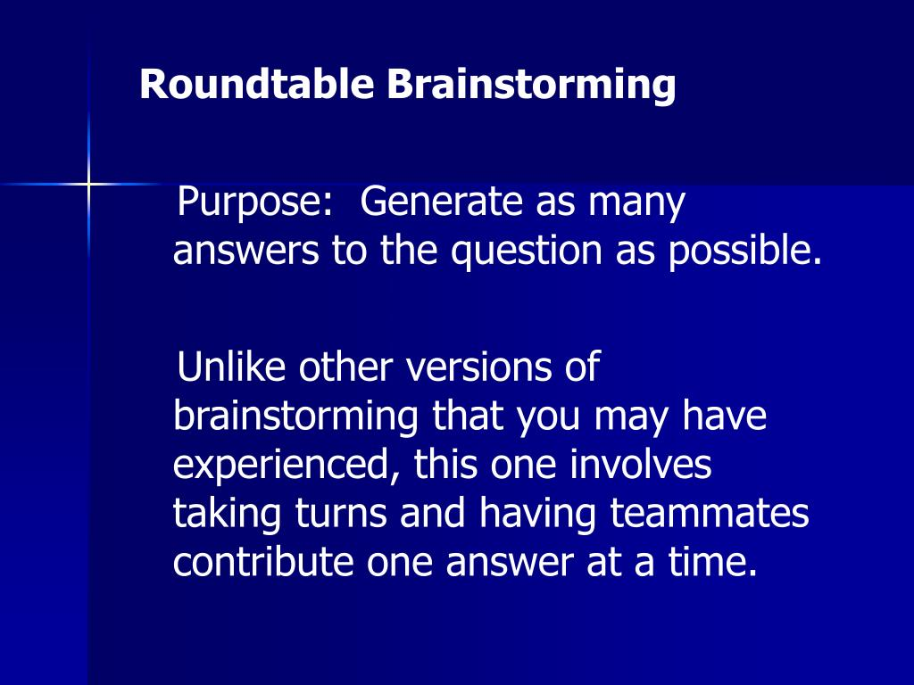 Roundtable Brainstorming