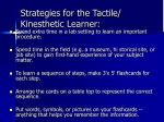 strategies for the tactile kinesthetic learner27
