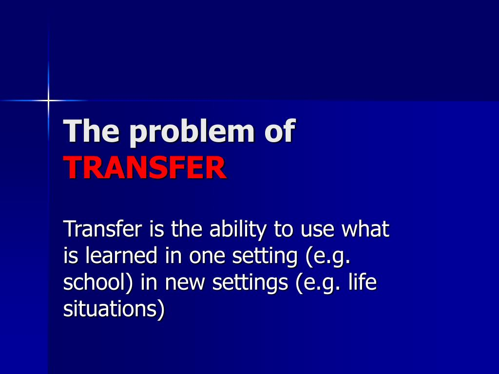 The problem of