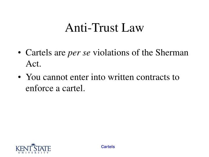 Anti-Trust Law