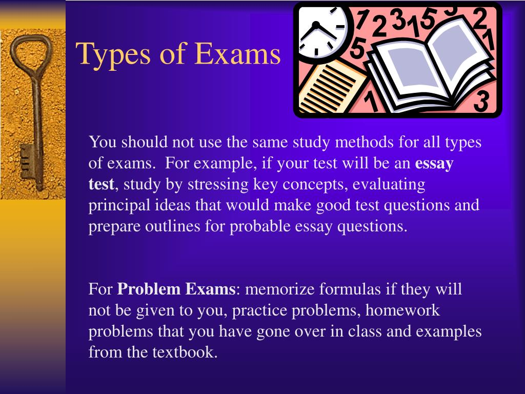 Types of Exams