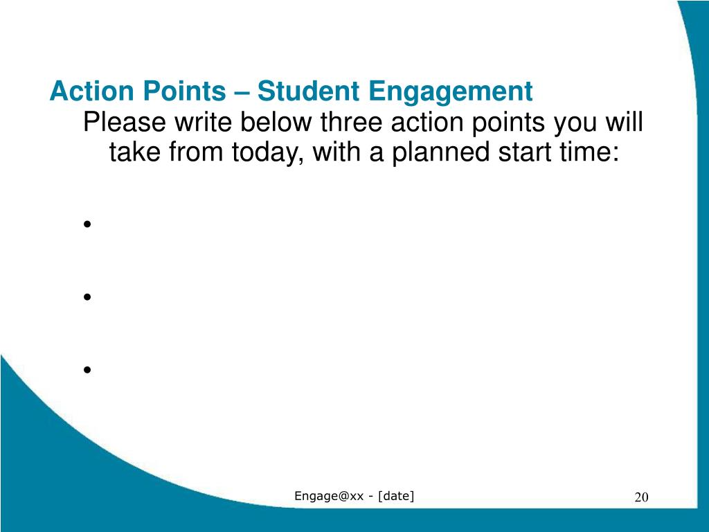 Action Points – Student Engagement