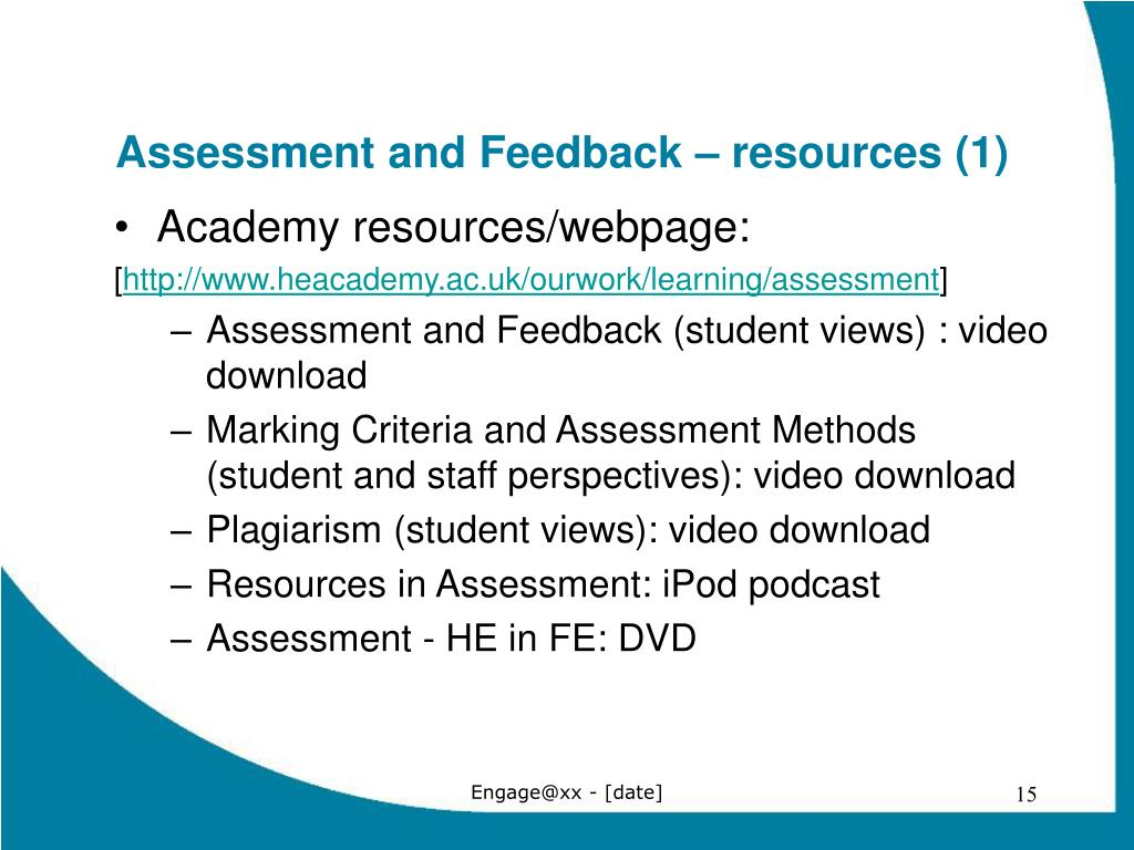 Assessment and Feedback – resources (1)
