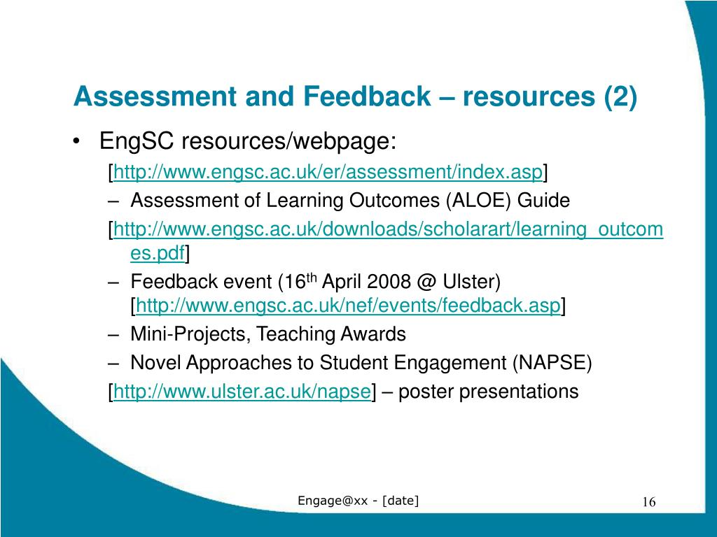 Assessment and Feedback – resources (2)