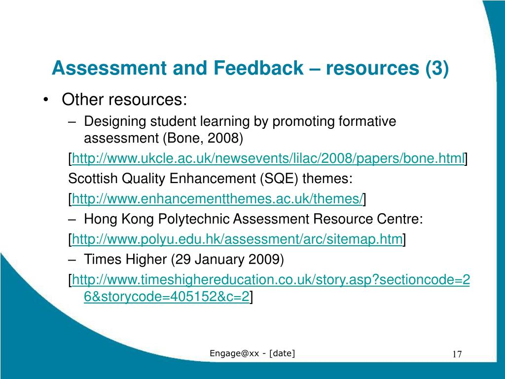 Assessment and Feedback – resources (3)