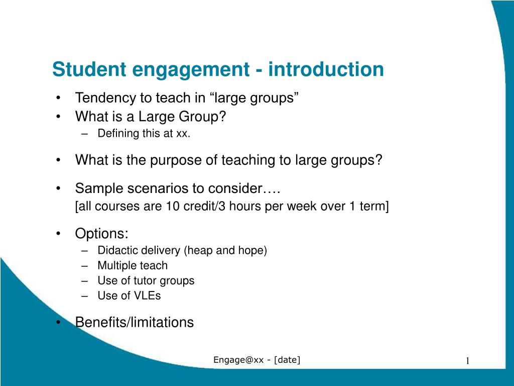 student engagement introduction