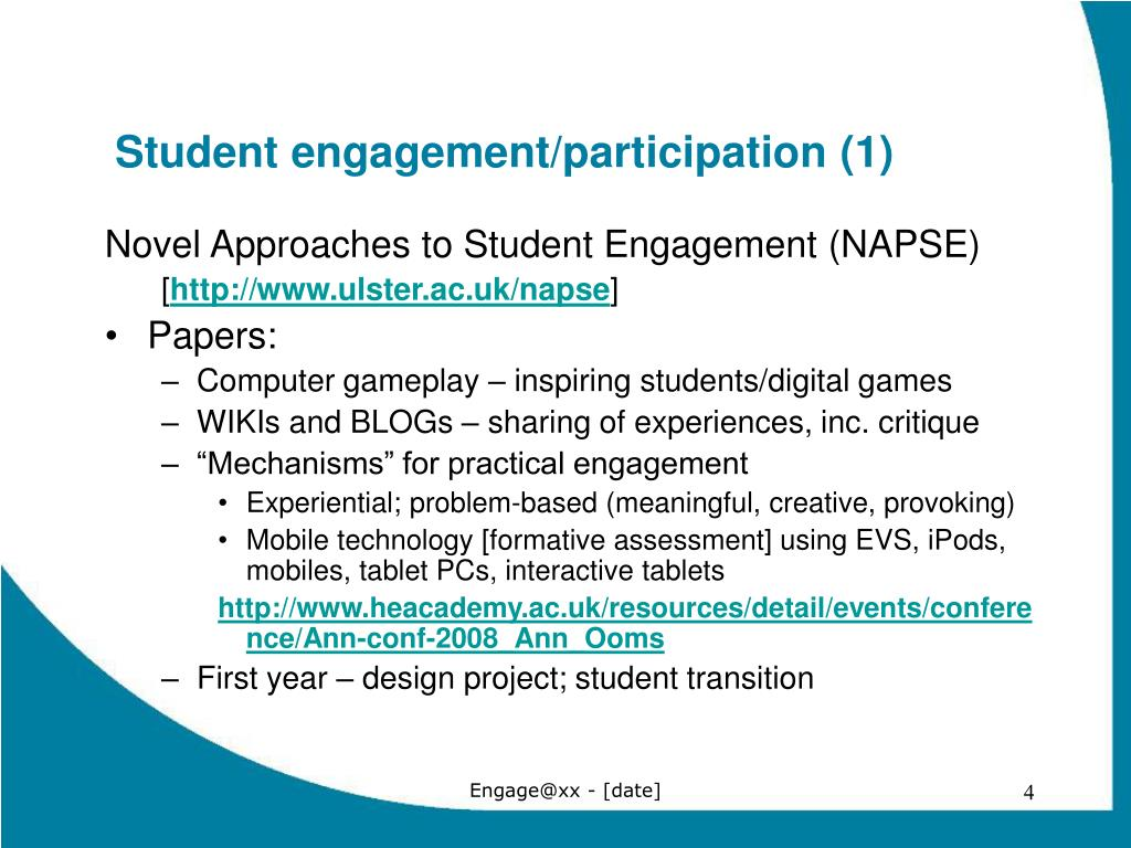 Student engagement/participation (1)