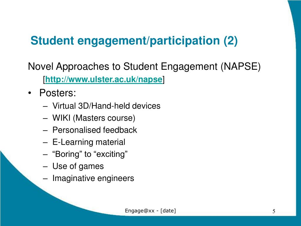Student engagement/participation (2)