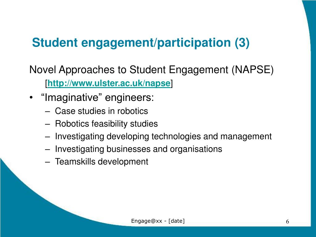 Student engagement/participation (3)