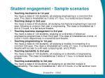 student engagement sample scenarios