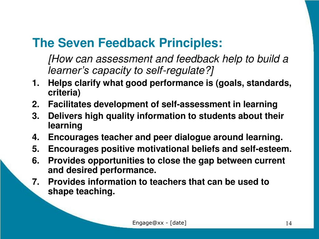The Seven Feedback Principles: