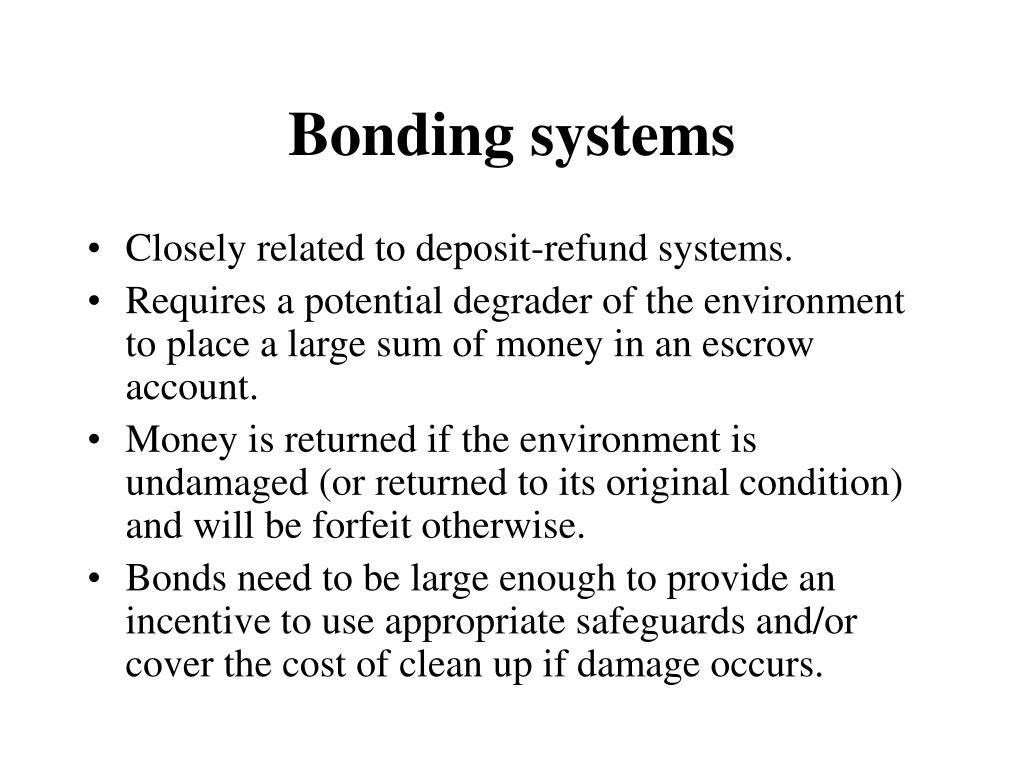 Bonding systems