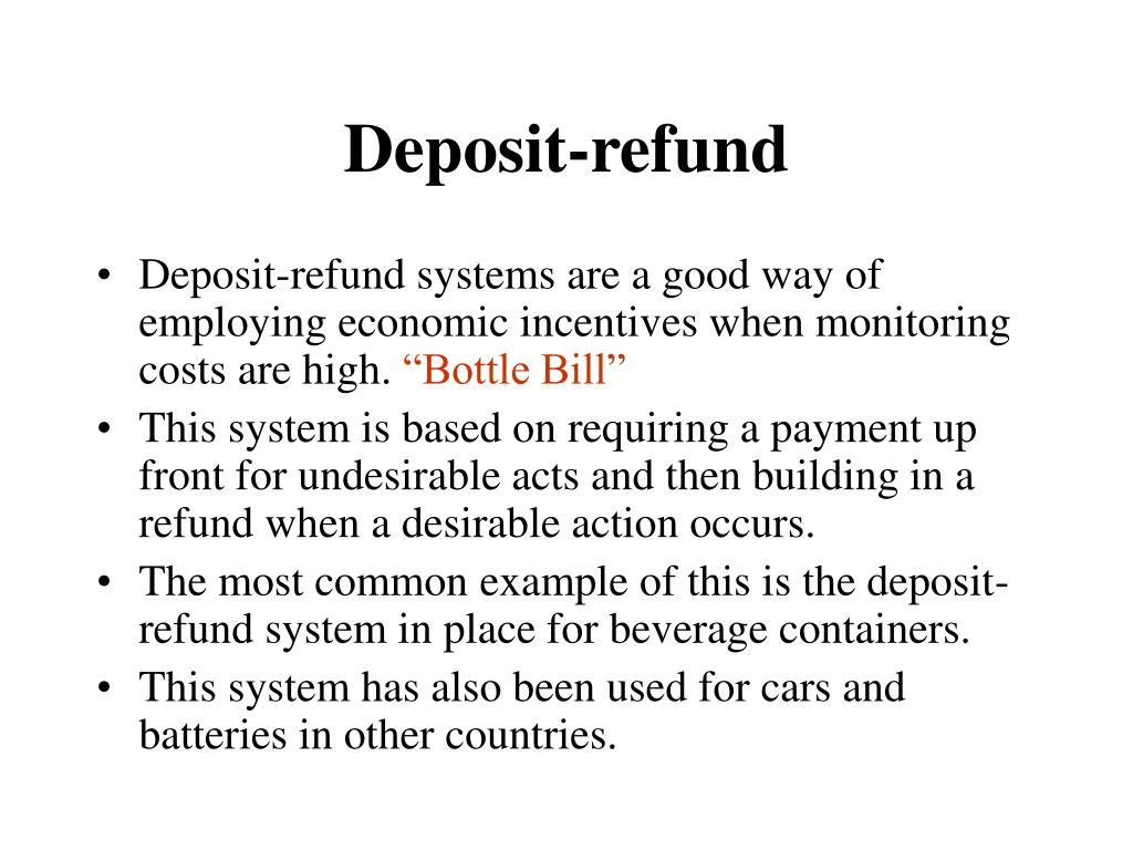 Deposit-refund