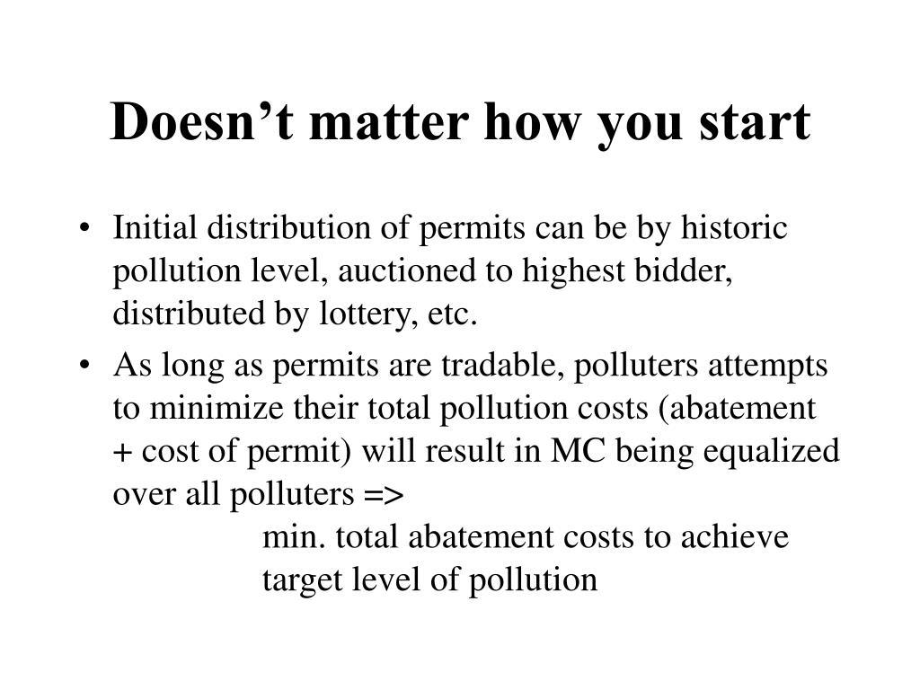 Doesn't matter how you start