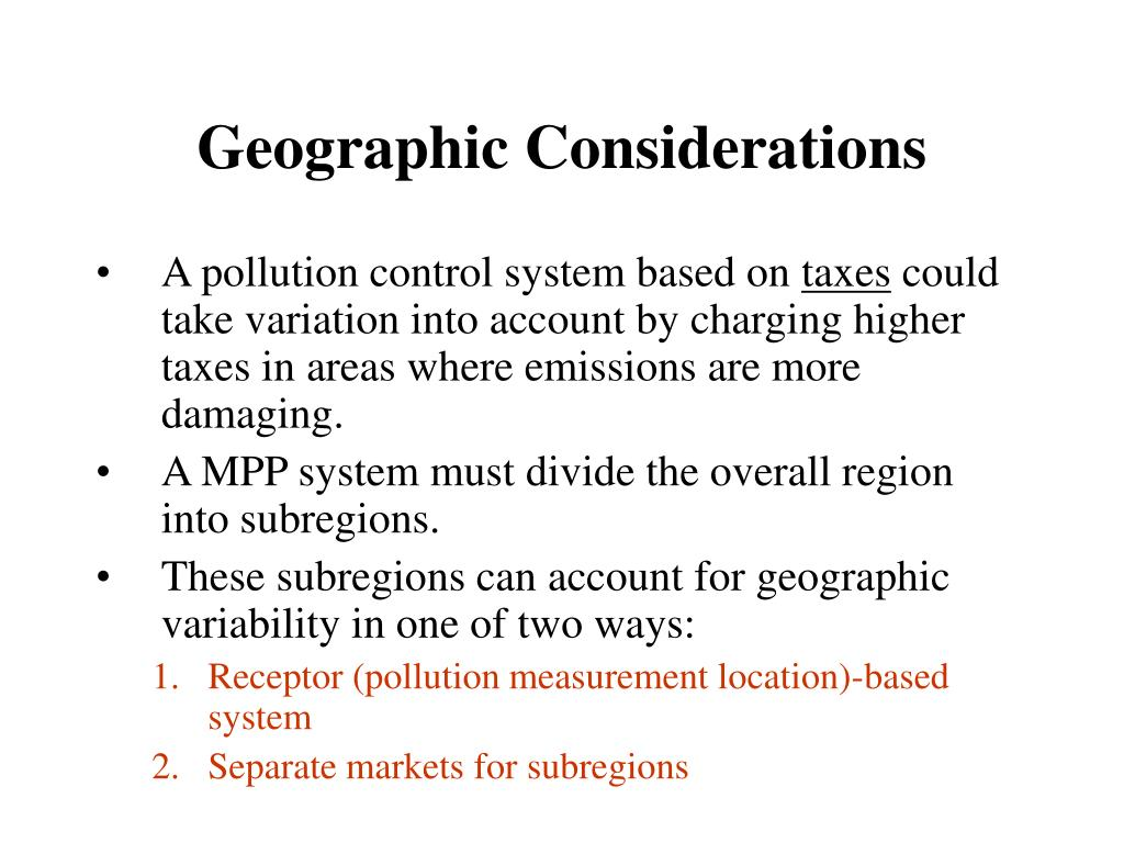 Geographic Considerations