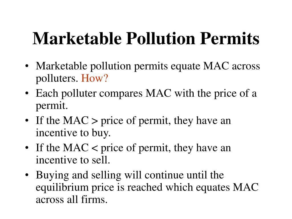 Marketable Pollution Permits