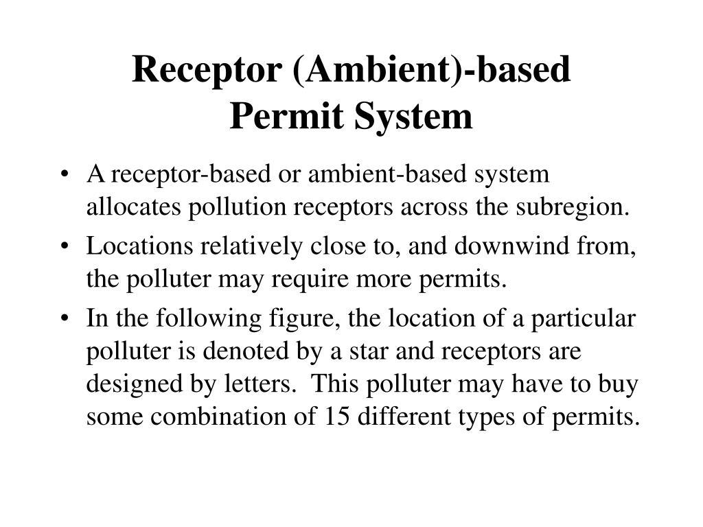 Receptor (Ambient)-based