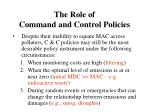 the role of command and control policies