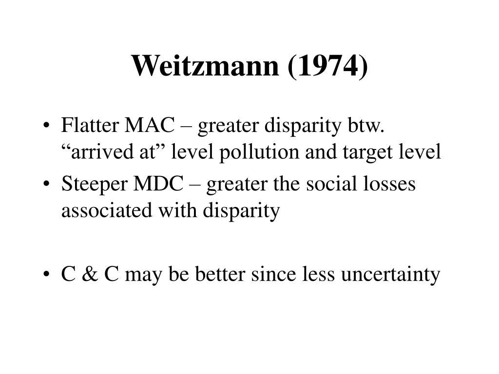 Weitzmann (1974)