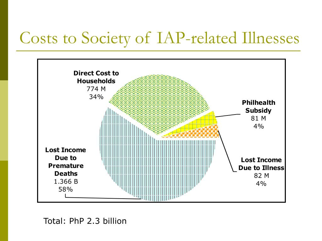 Costs to Society of IAP-related Illnesses