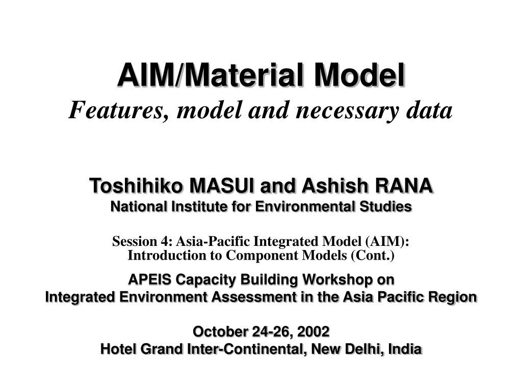 AIM/Material Model