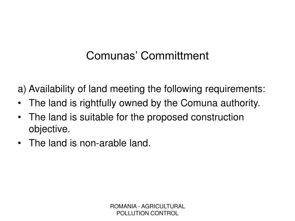 Comunas' Committment