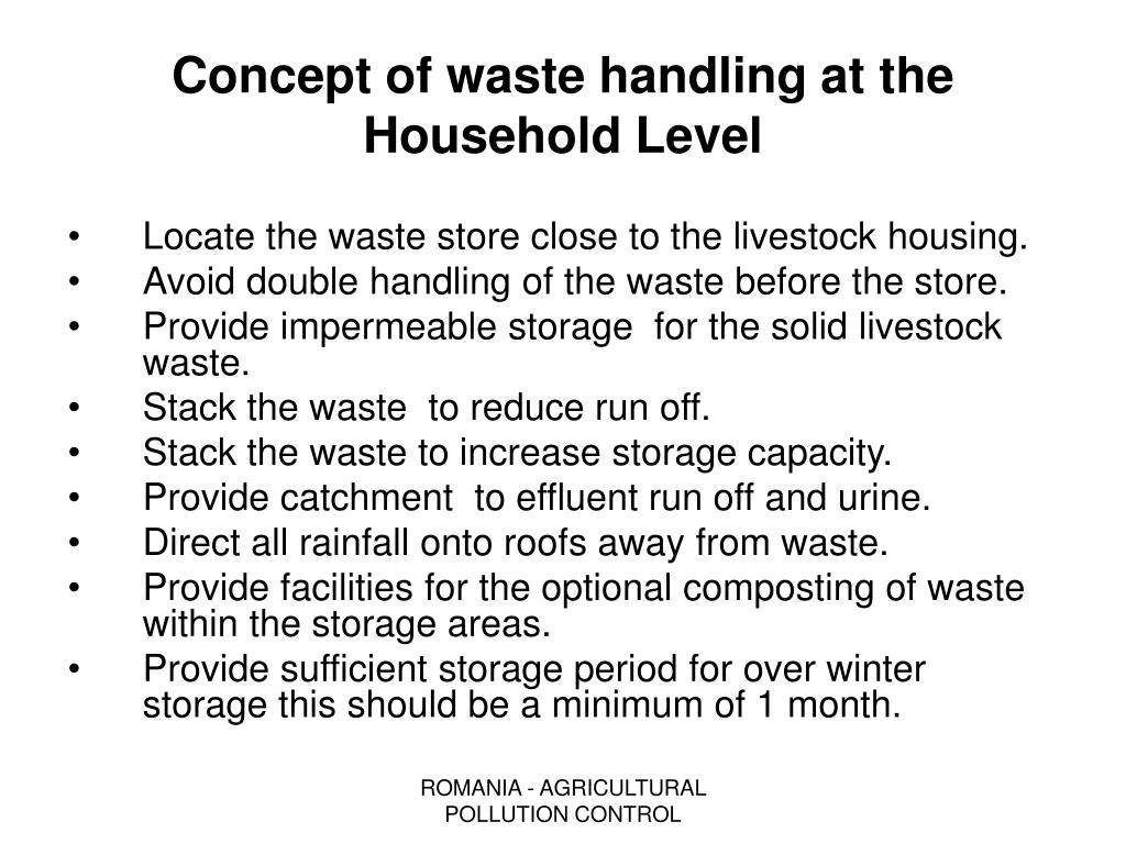 Concept of waste handling at the Household Level