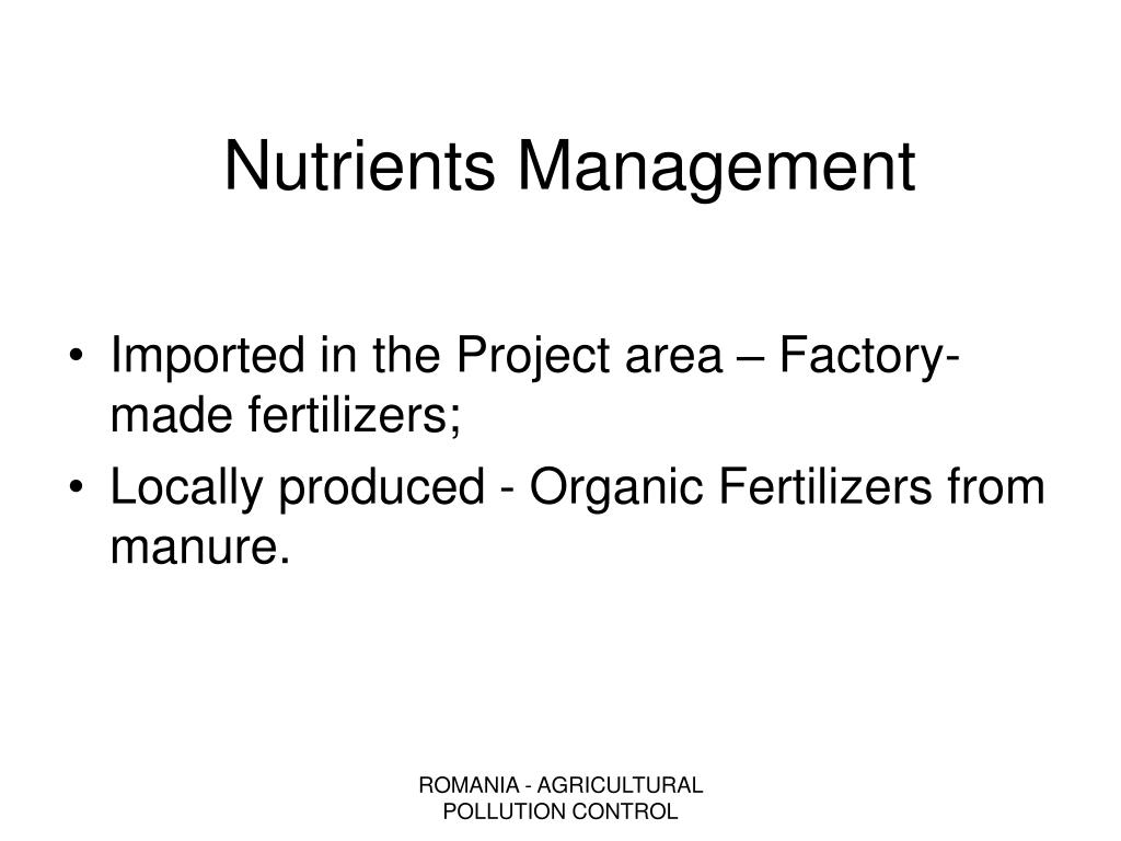 Nutrients Management
